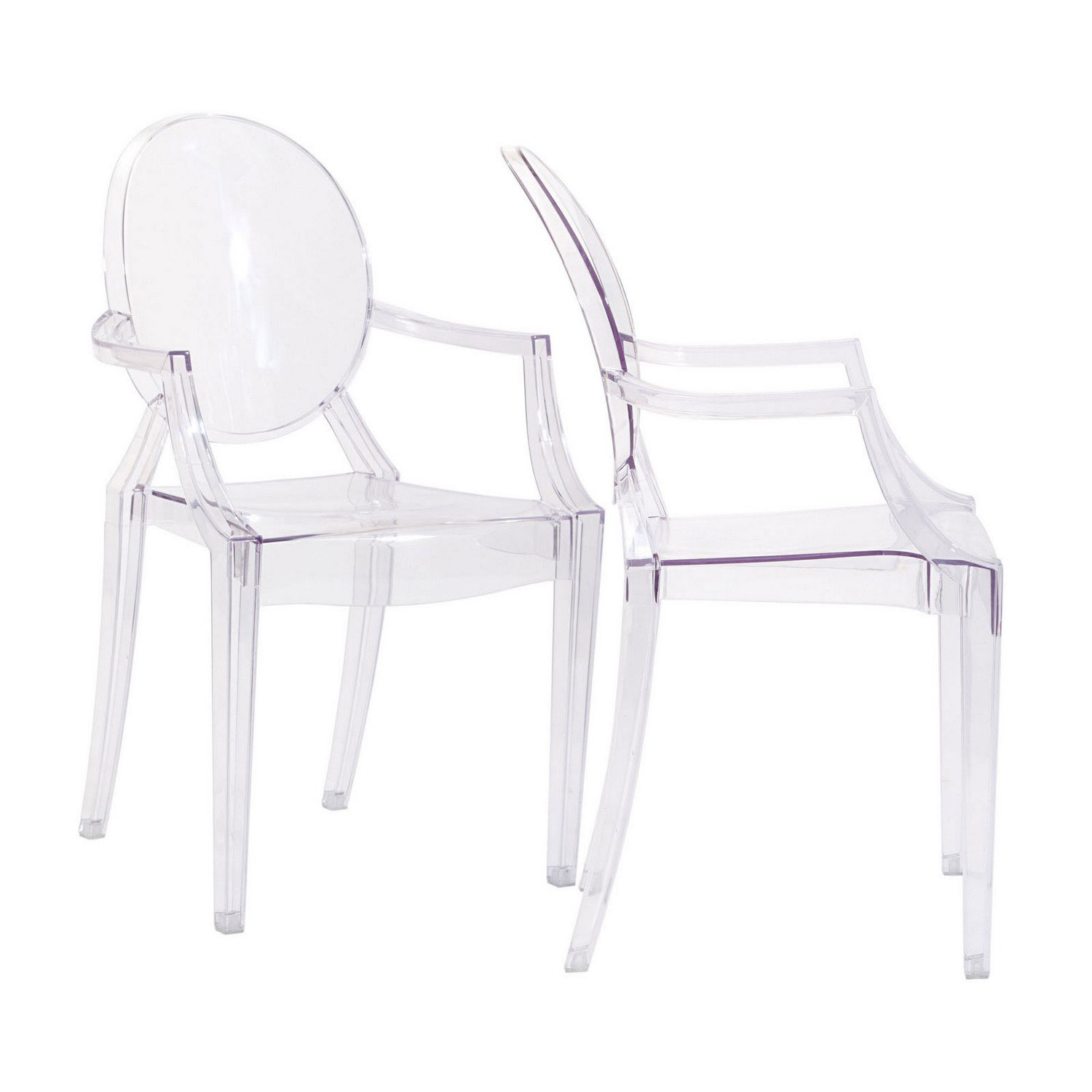 Modway Casper Dining Armchairs Set of 2 - Clear