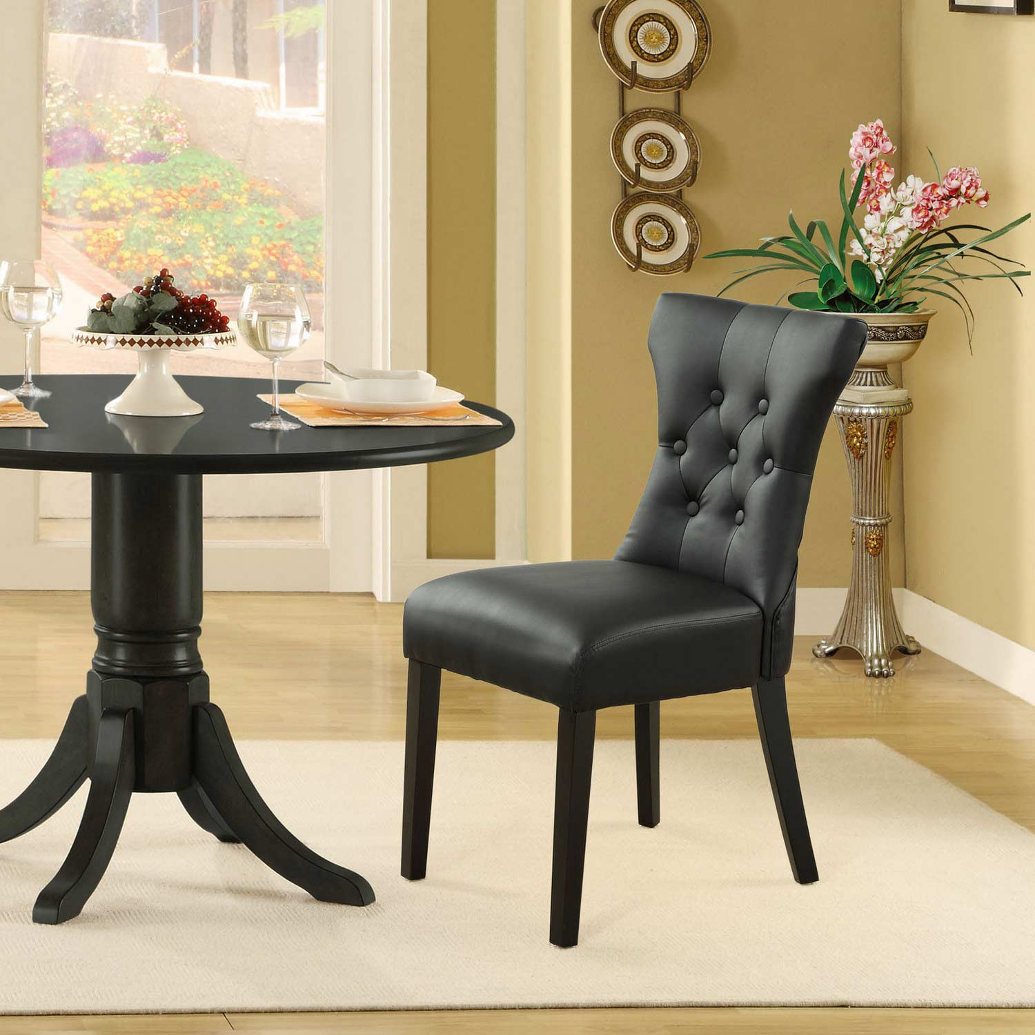 Modway Silhouette Dining Chairs Set of 2 - Black