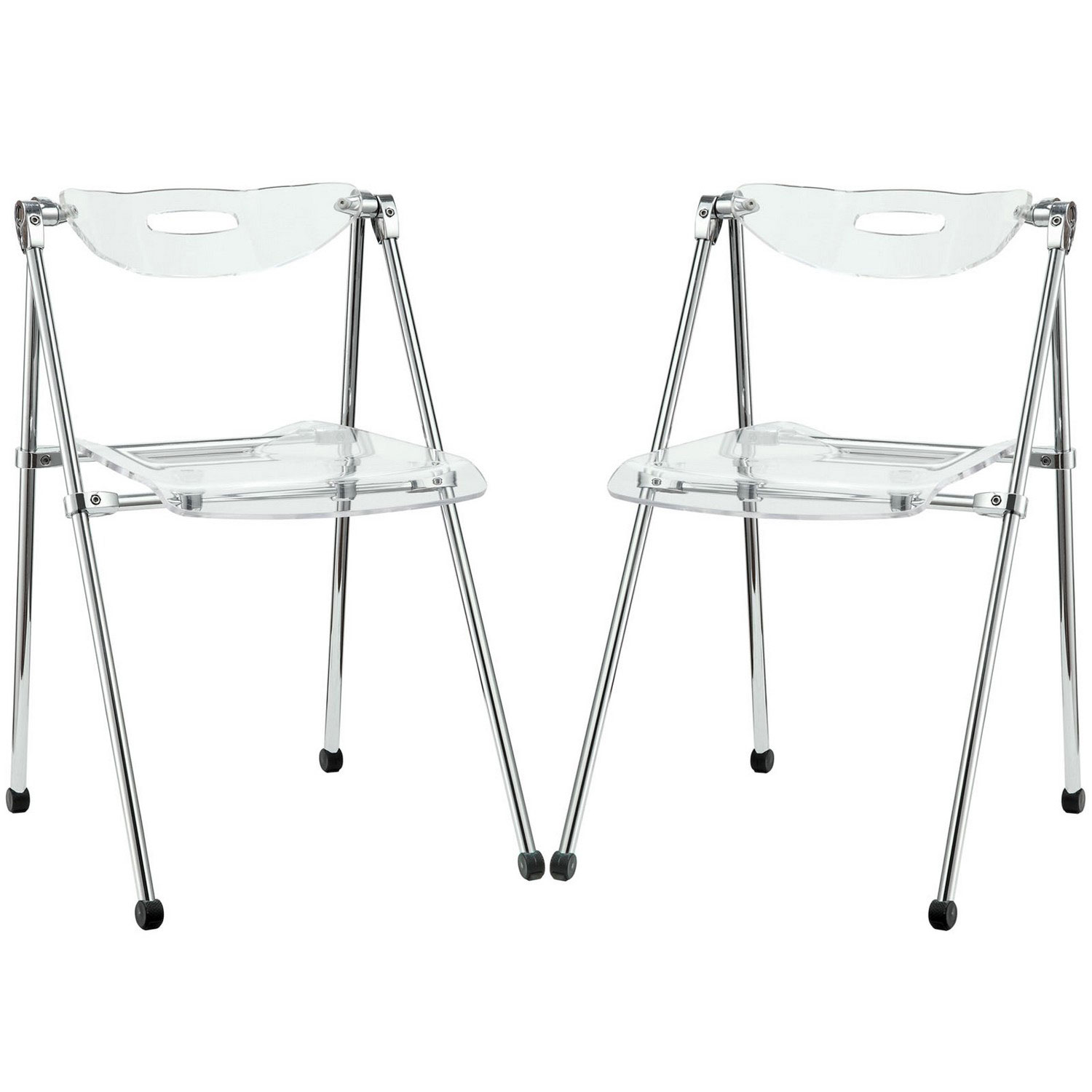 Modway Telescope Set of 2 Dining Chairs - Clear
