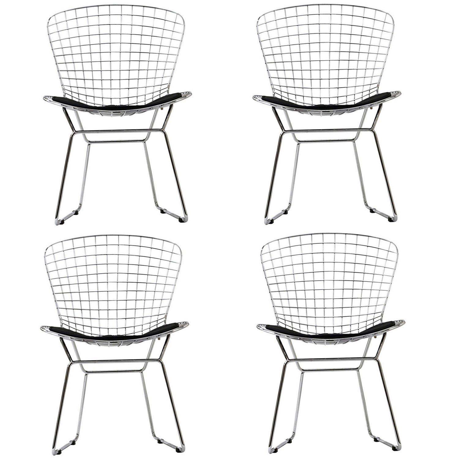 Modway CAD Dining Chairs Set of 4 - Black