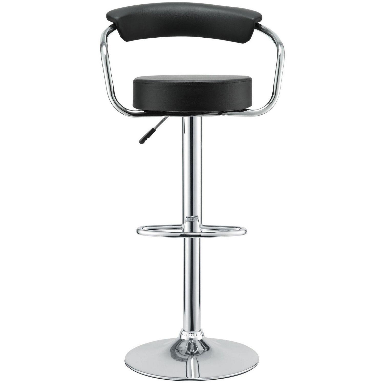 Modway Diner Bar Stool Set of 2 - Black