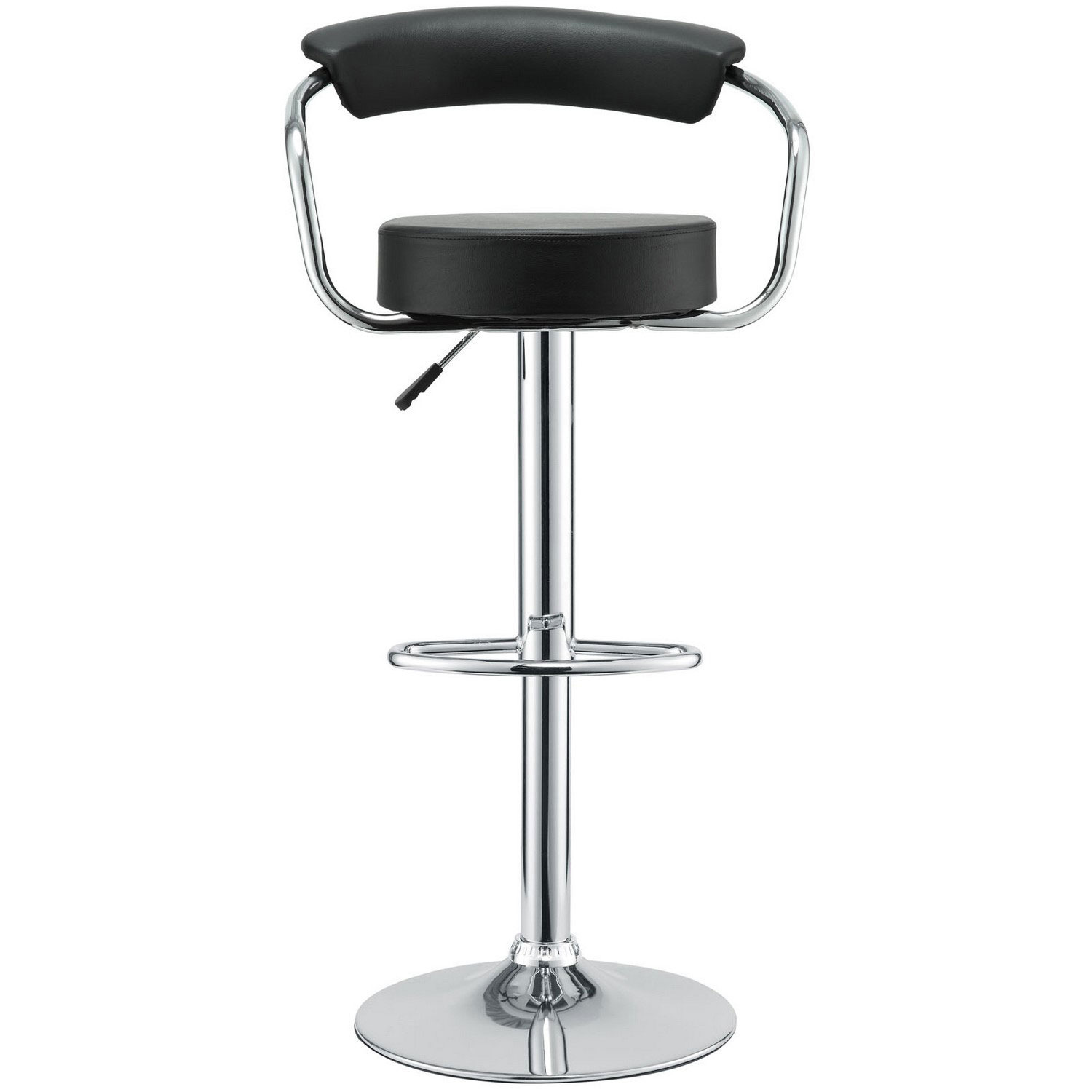Modway Diner Bar Stool Set of 4 - Black
