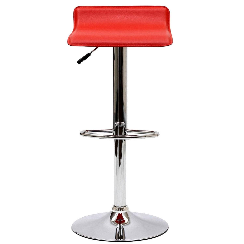 Modway Gloria Bar Stool Set of 2 - Red