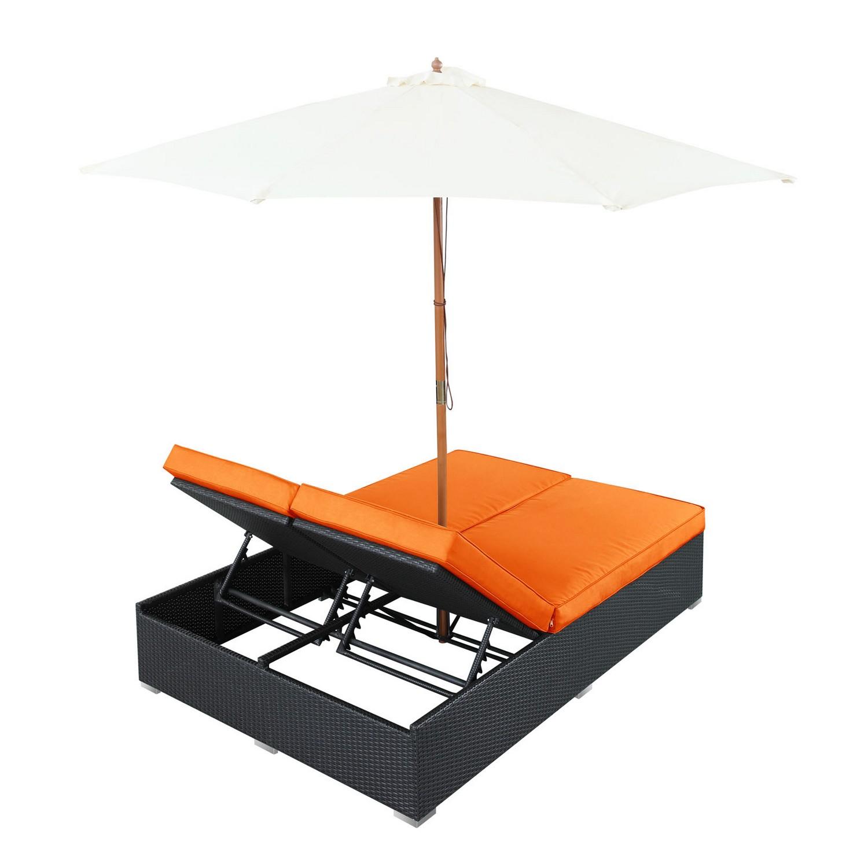 Modway Arrival Outdoor Patio Chaise - Espresso/Orange