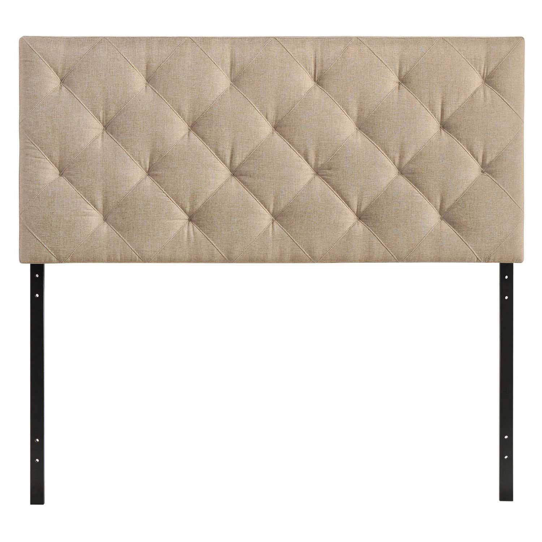 Modway Theodore Queen Fabric Headboard - Beige