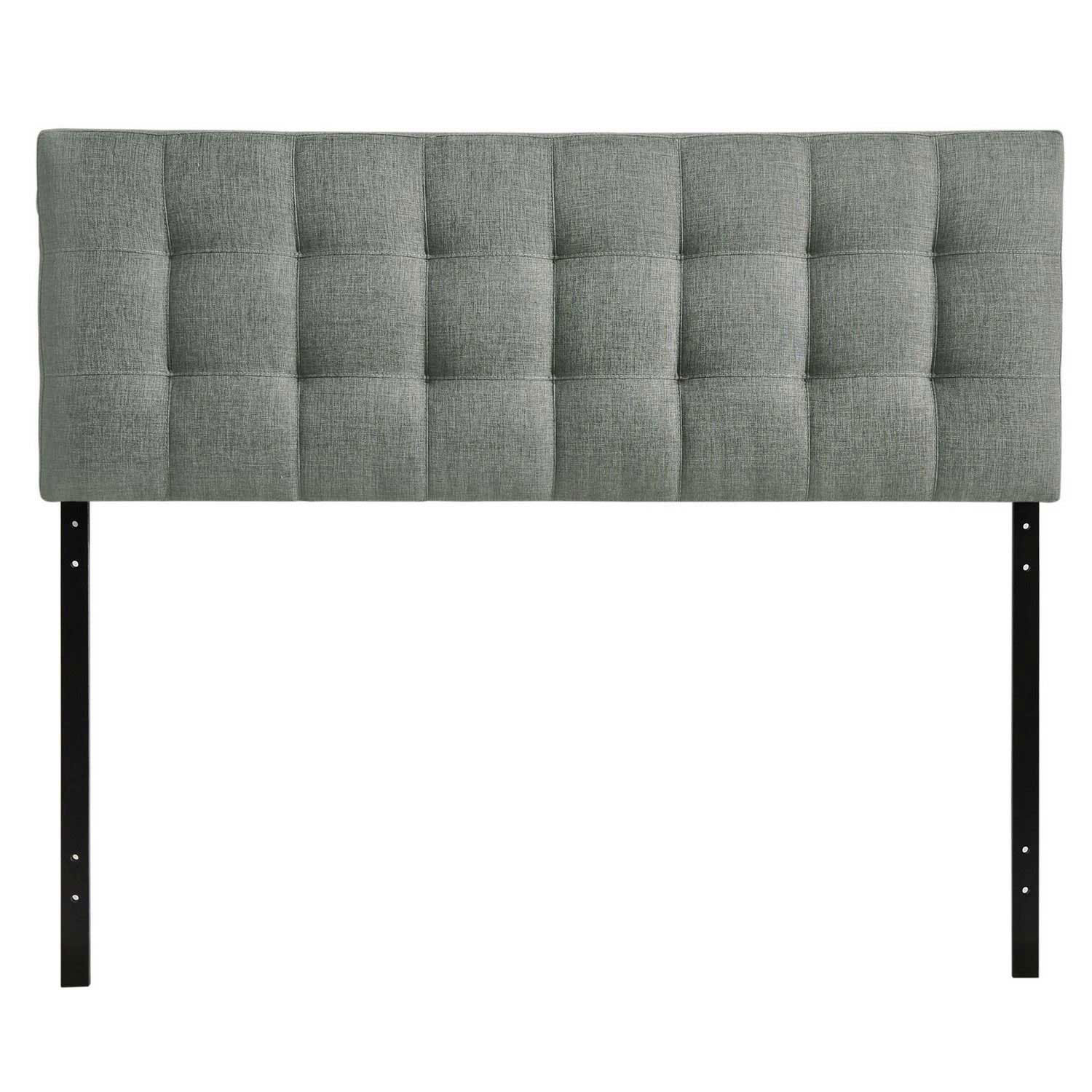 Modway Lily Queen Fabric Headboard - Gray