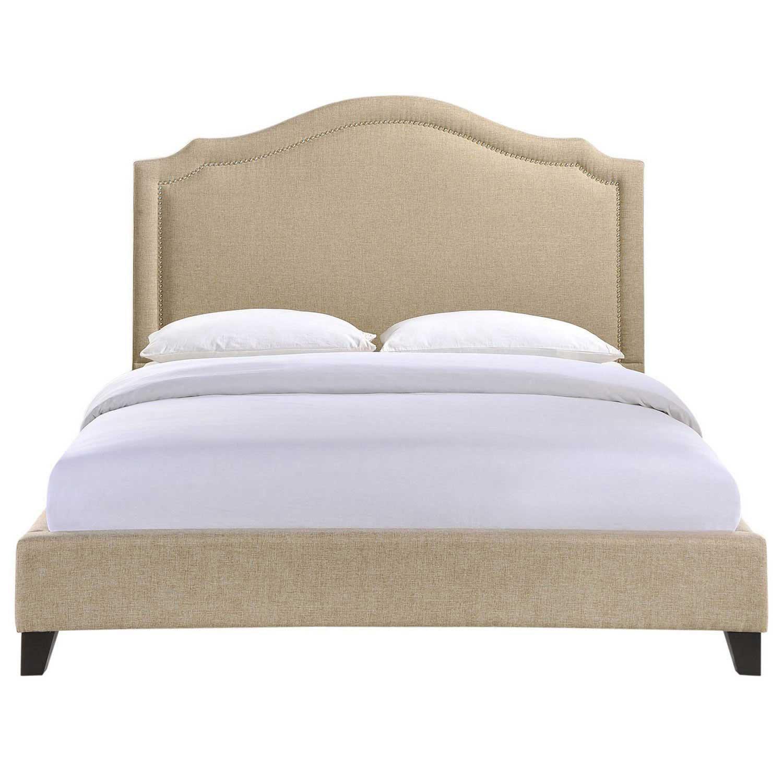 Modway Charlotte Queen Bed - Beige