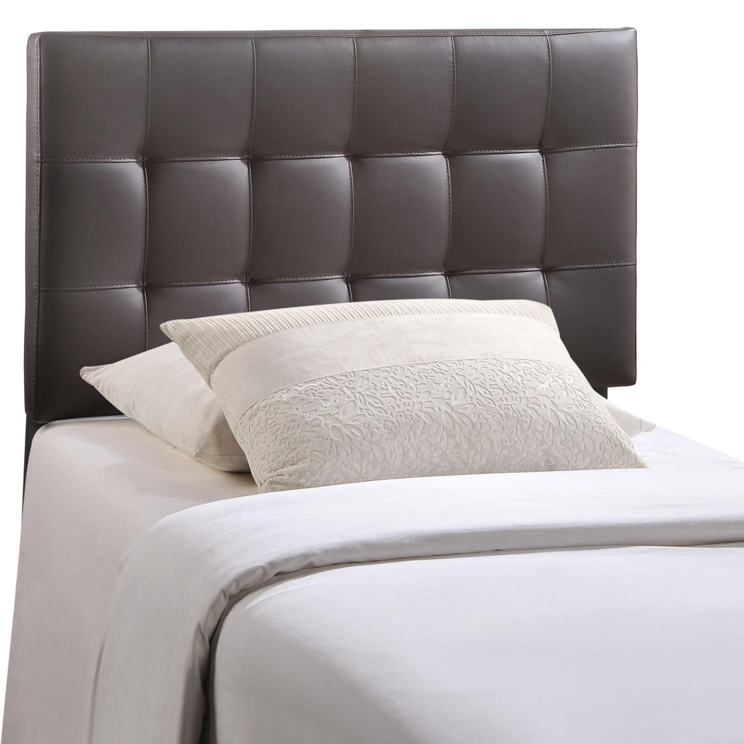 Modway Lily Vinyl Headboard - Brown