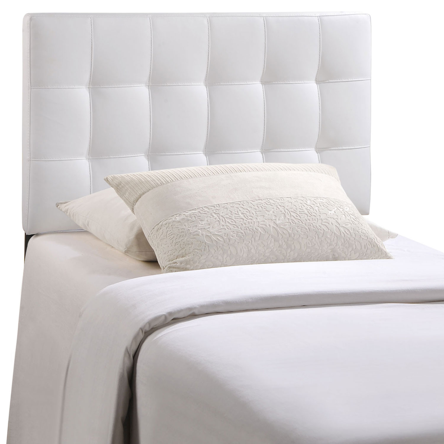 Modway Lily Vinyl Headboard White Mw Mod 5149 Whi Hb At