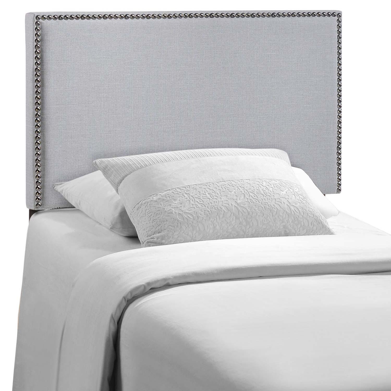 Modway Region Nailhead Upholstered Headboard - Sky Gray