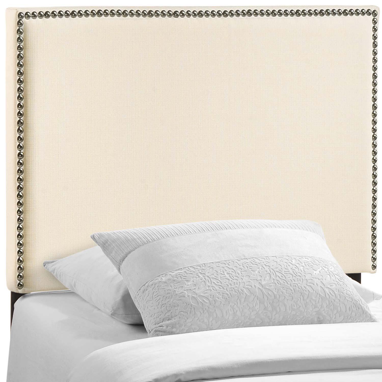 Modway Region Nailhead Upholstered Headboard - Ivory