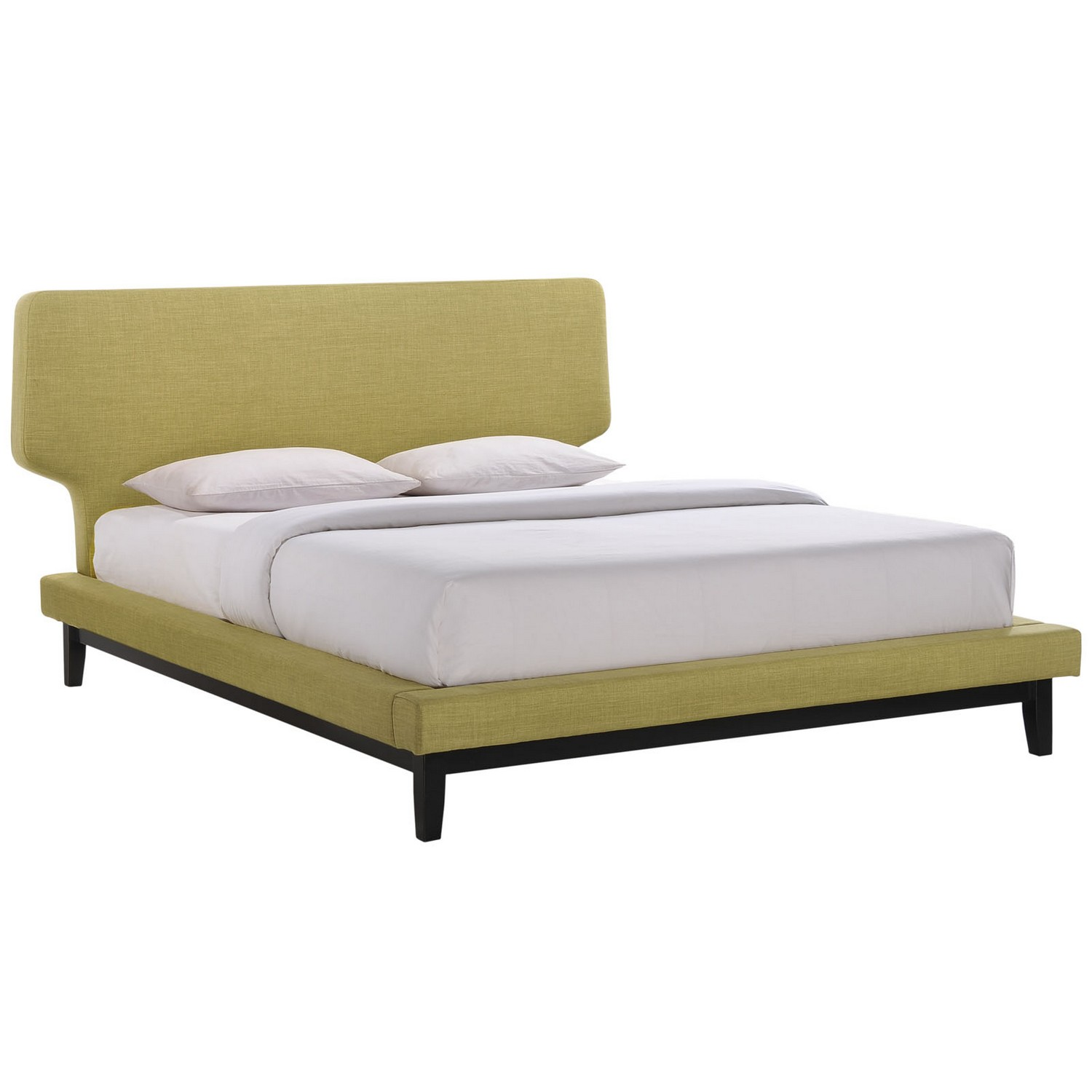 Modway Bethany Queen Bed - Black Green