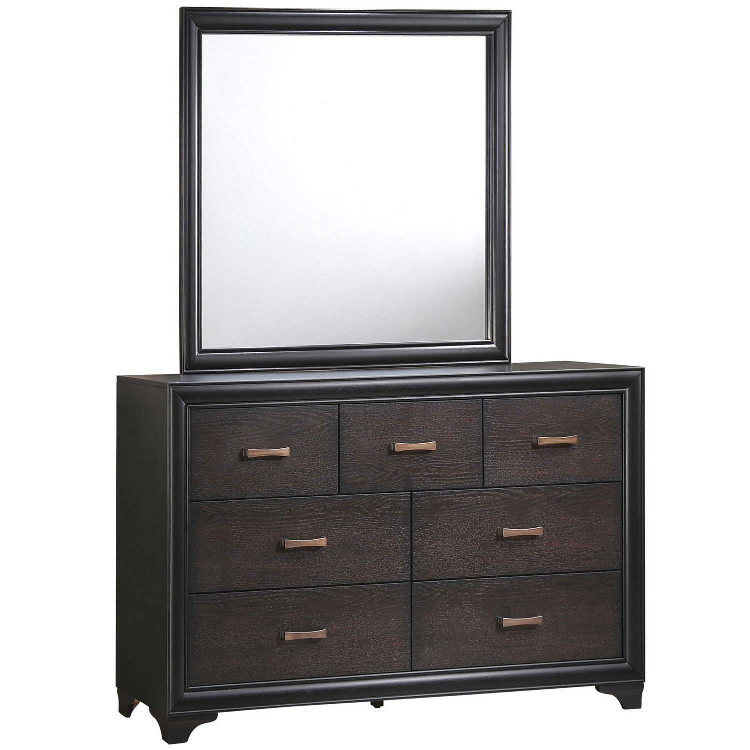 Modway Madison Dresser and Mirror - Walnut
