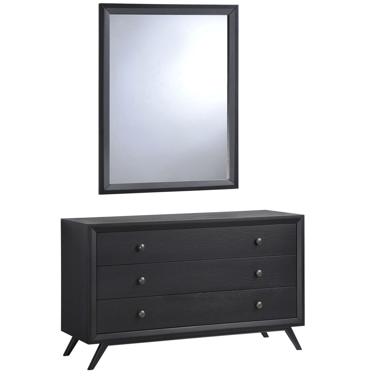 Modway Tracy Dresser and Mirror - Black