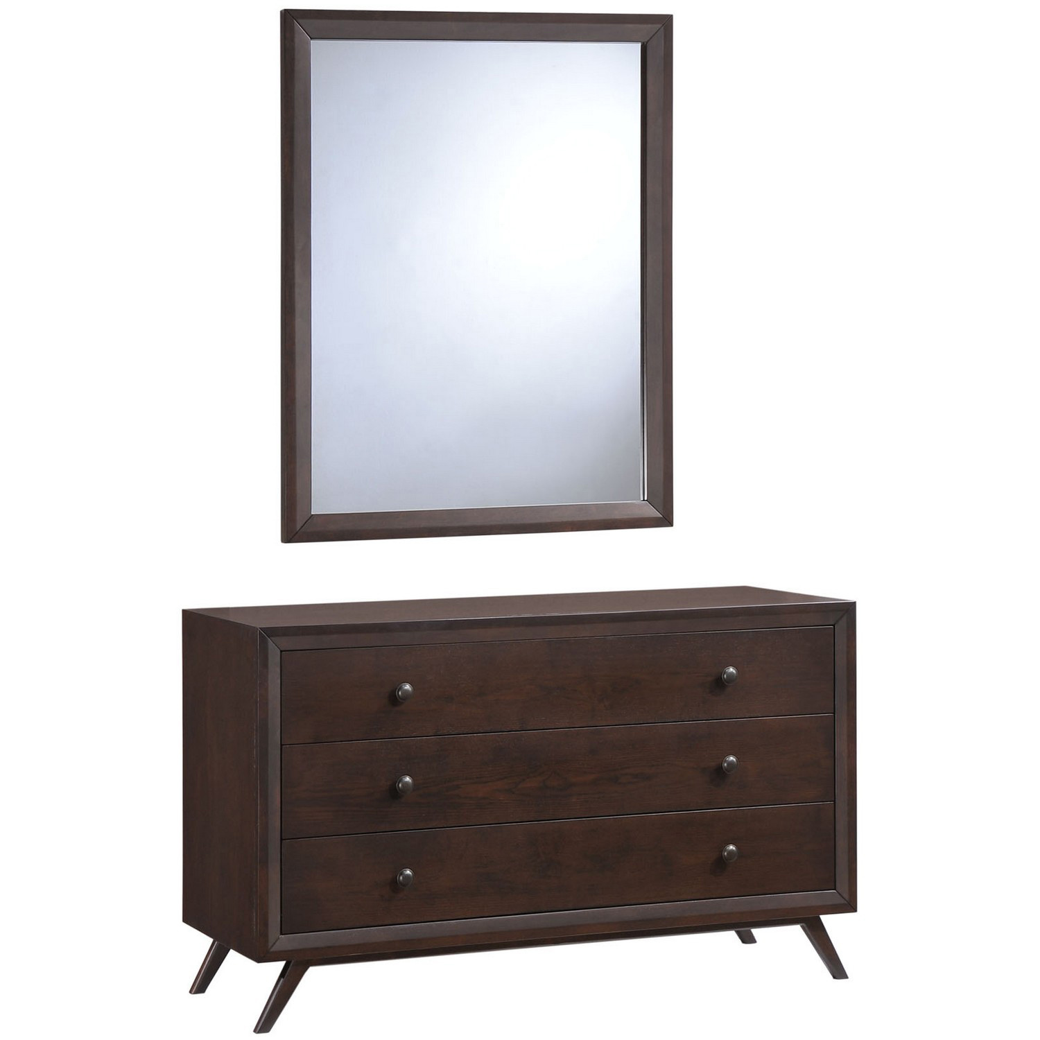 Modway Tracy Dresser and Mirror - Cappuccino