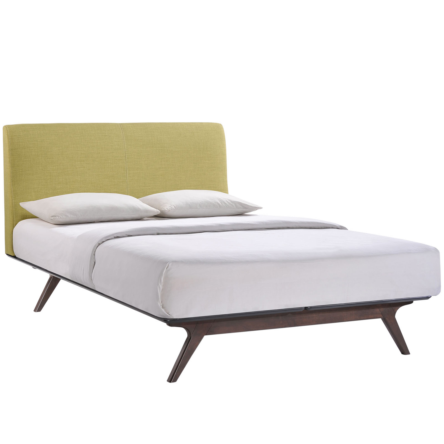Modway Tracy Queen Bed - Cappuccino Green