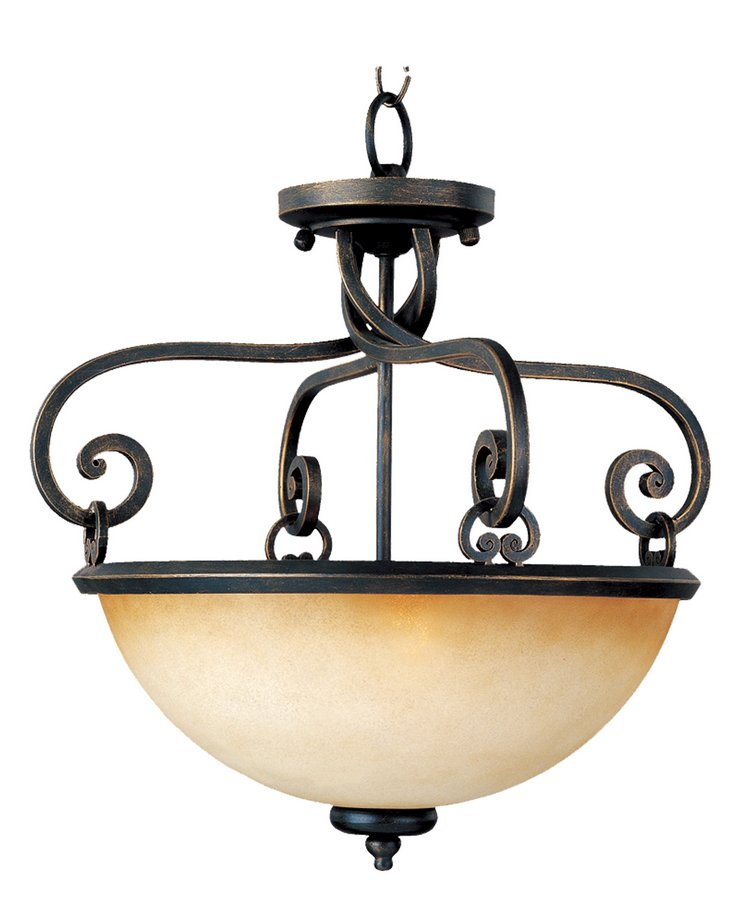 Portello 2 Lt Semi Flush-Maxim Lighting