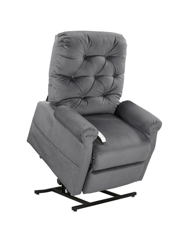 Mega Motion NM200 Classica 3-Position Power Lift Chaise Recliner - Charcoal