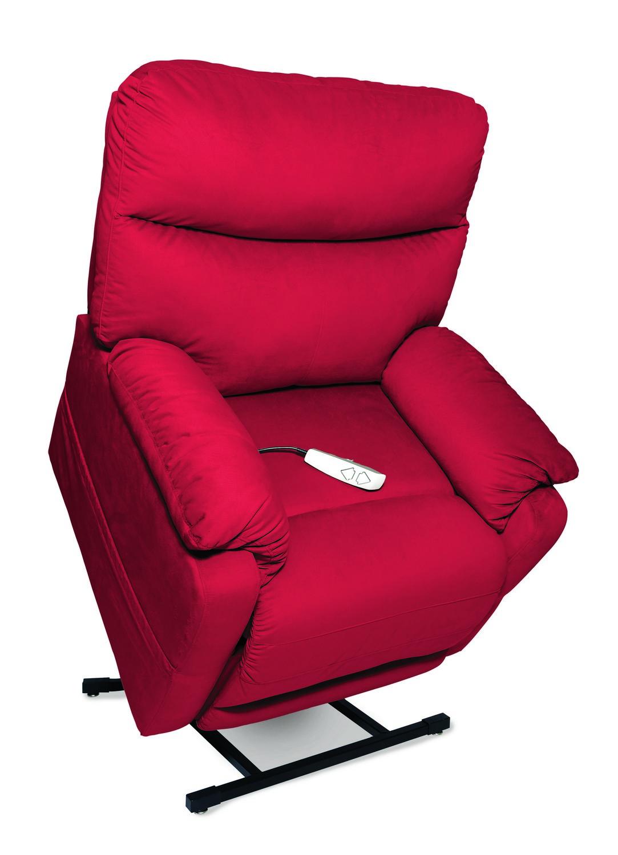 Mega Motion NM1750 Cloud 3-Position Power Lift Chaise Recliner - Crimson