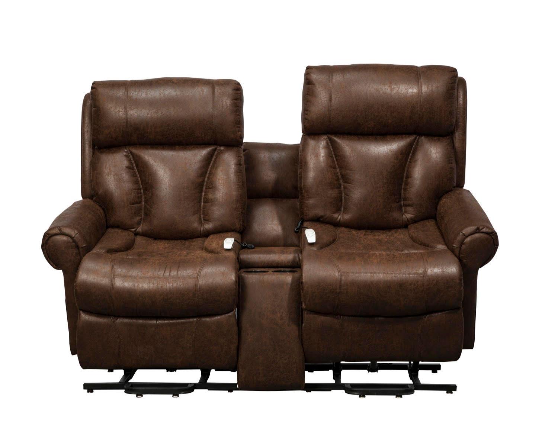 Mega Motion AS9002 Companion Dual Seat Wallaway Power Lift Chaise Recliner    Tobacco