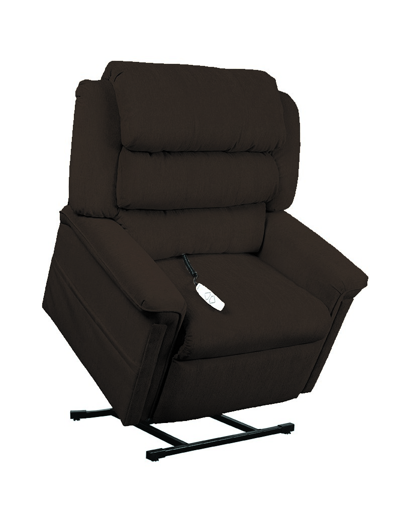 Mega Motion AS1450 Perfecta 3-Position Power Lift Chaise Recliner - Earth