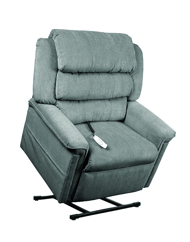 Mega Motion AS1450 Perfecta 3-Position Power Lift Chaise Recliner - Slate