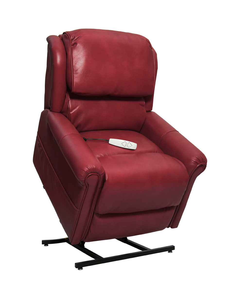 Mega Motion NM2350 Uptown 3-Position Power Lift Chaise Recliner - Red
