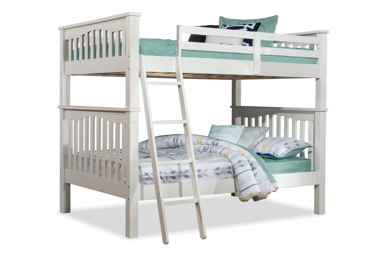 NE Kids Highlands Full/Full Bunk Bed - White Finish