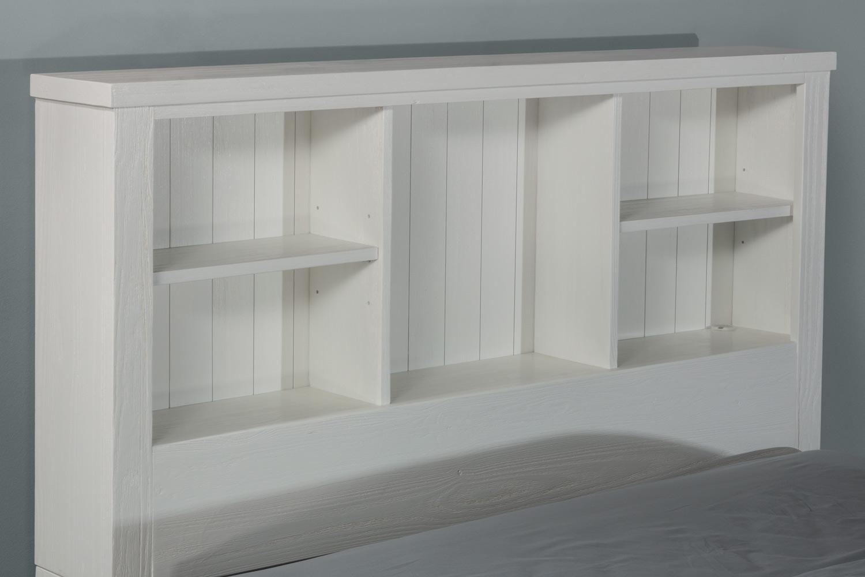 NE Kids Highlands Bookcase Headboard - White
