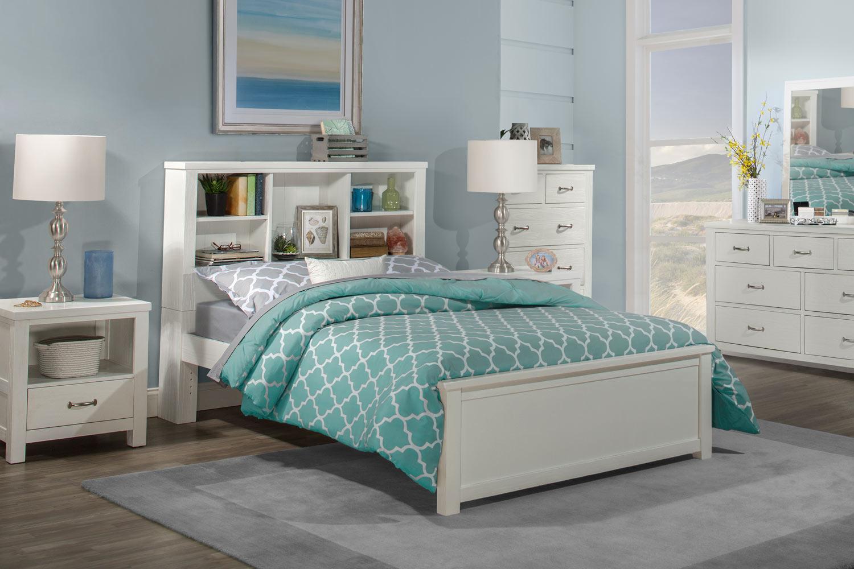 NE Kids Highlands Bookcase Bedroom Set - White
