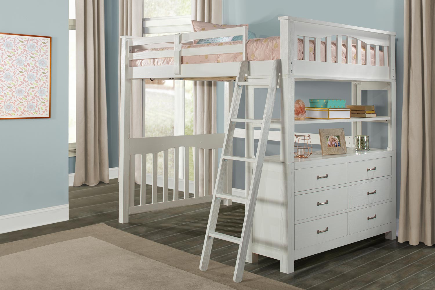 NE Kids Highlands Loft Bed - White