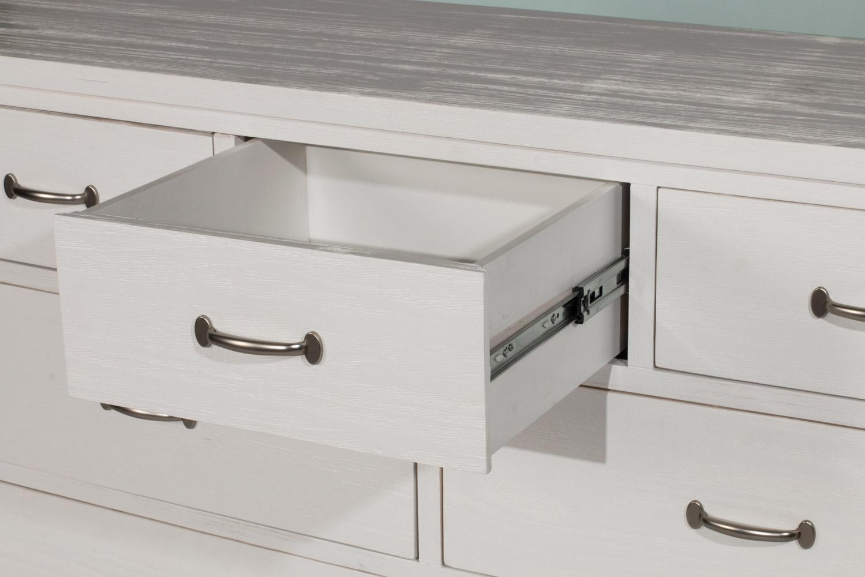 NE Kids Highlands 7 Drawer Dresser - White Finish