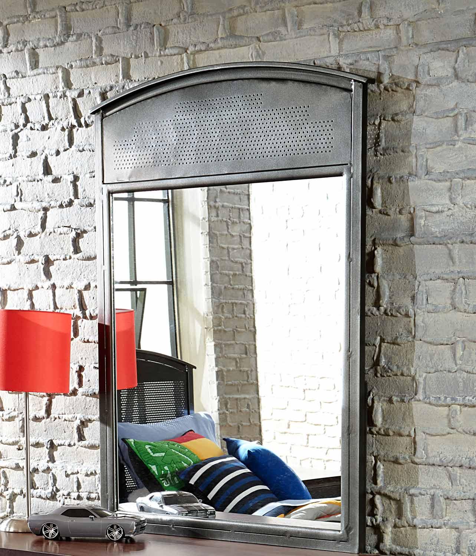 NE Kids Urban Quarters Mirror - Black Steel