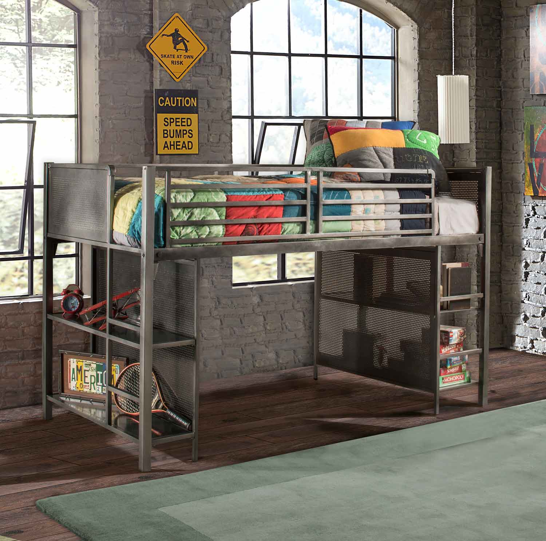 NE Kids Urban Quarters Youth Junior Loft Bed - Black Steel
