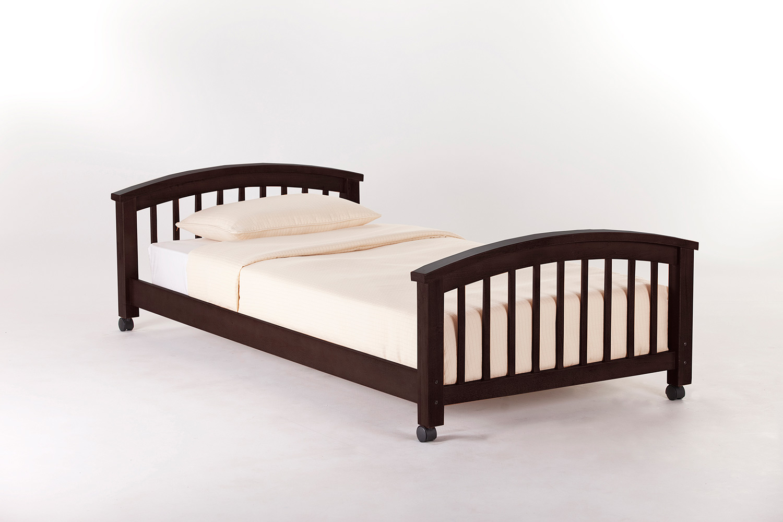 NE Kids SchoolHouse Student Loft Twin Lower Bed - Chocolate