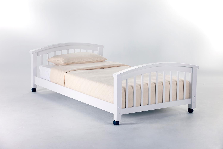 NE Kids School House Student Loft Twin Lower Bed - White