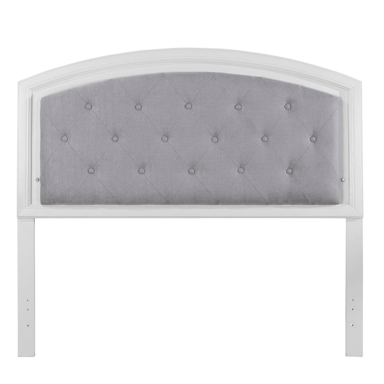 NE Kids Lyndon Lane Upholstered Panel Led Lighted Headboard - White