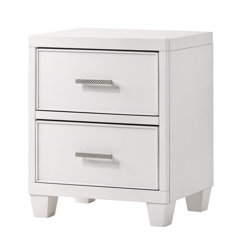 NE Kids Lyndon Lane 2-Drawer Wood Nightstand - White