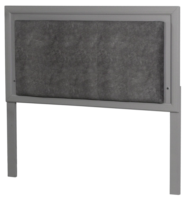 NE Kids Lyndon Lane Upholstered Panel Led Lighted Headboard - Gray