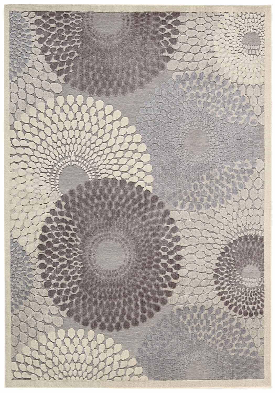 Nourison Graphic Illusions GIL04 Grey Area Rug