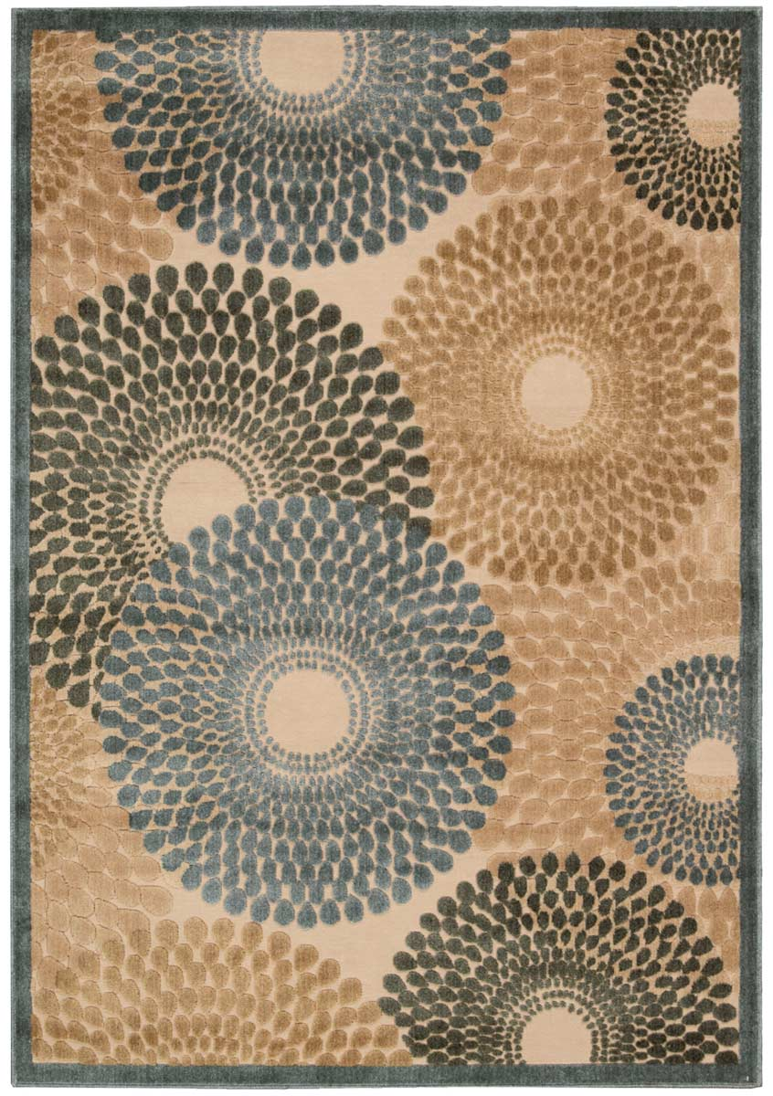 Nourison graphic illusions gil04 teal area rug graphic for Graphic illusions