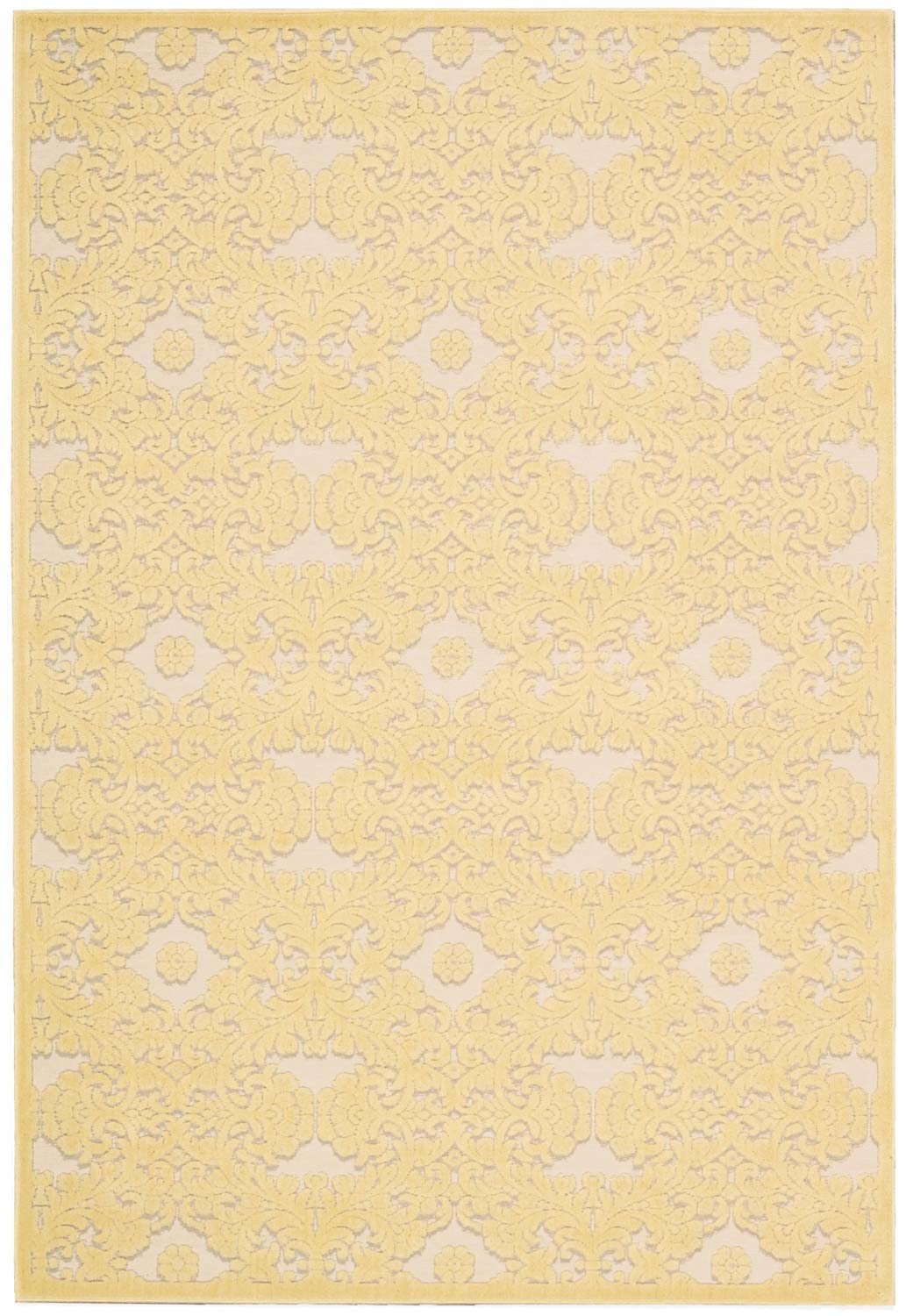 Nourison Graphic Illusions GIL07 Yellow Area Rug