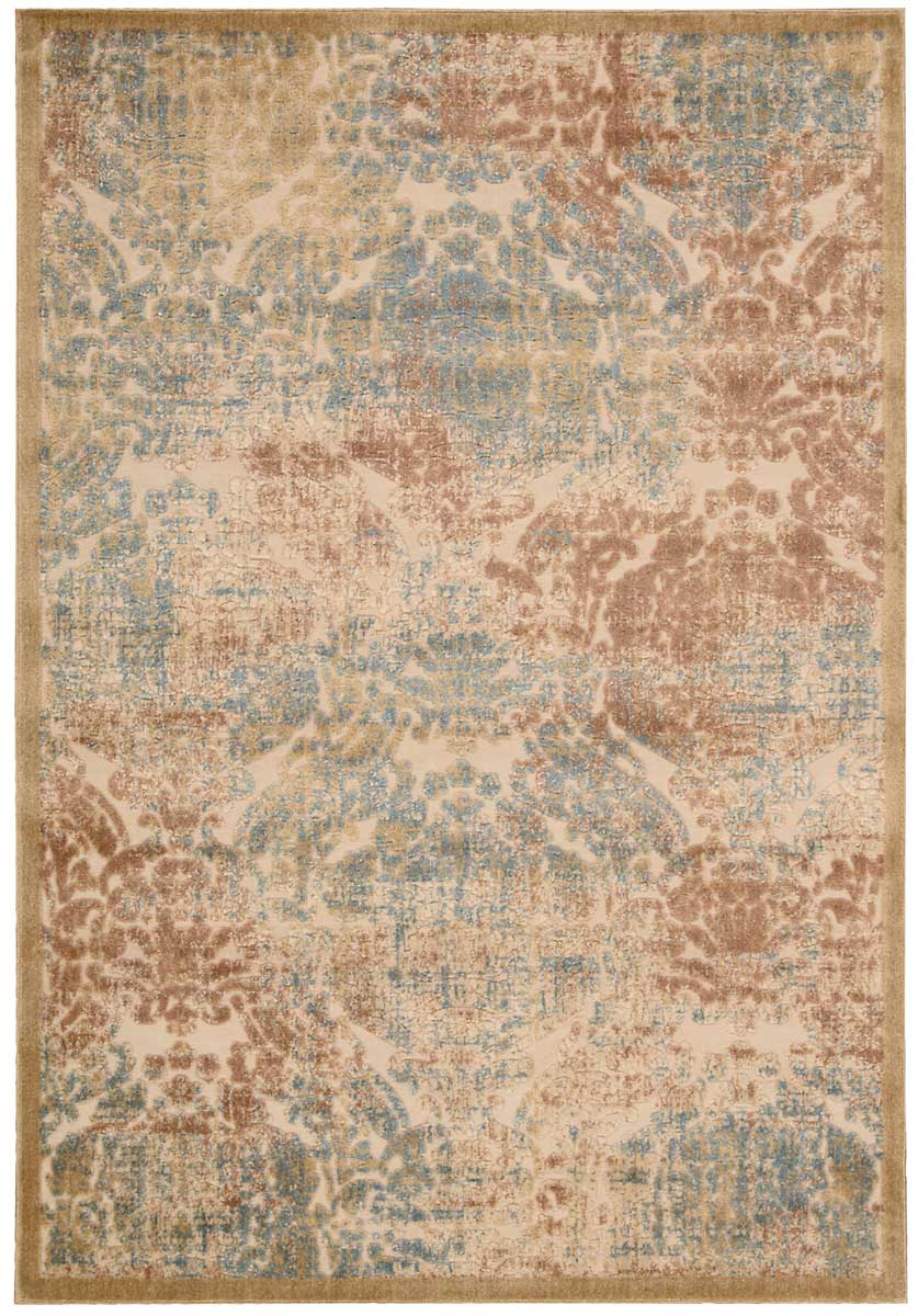 Nourison Graphic Illusions GIL09 Light Gold Area Rug
