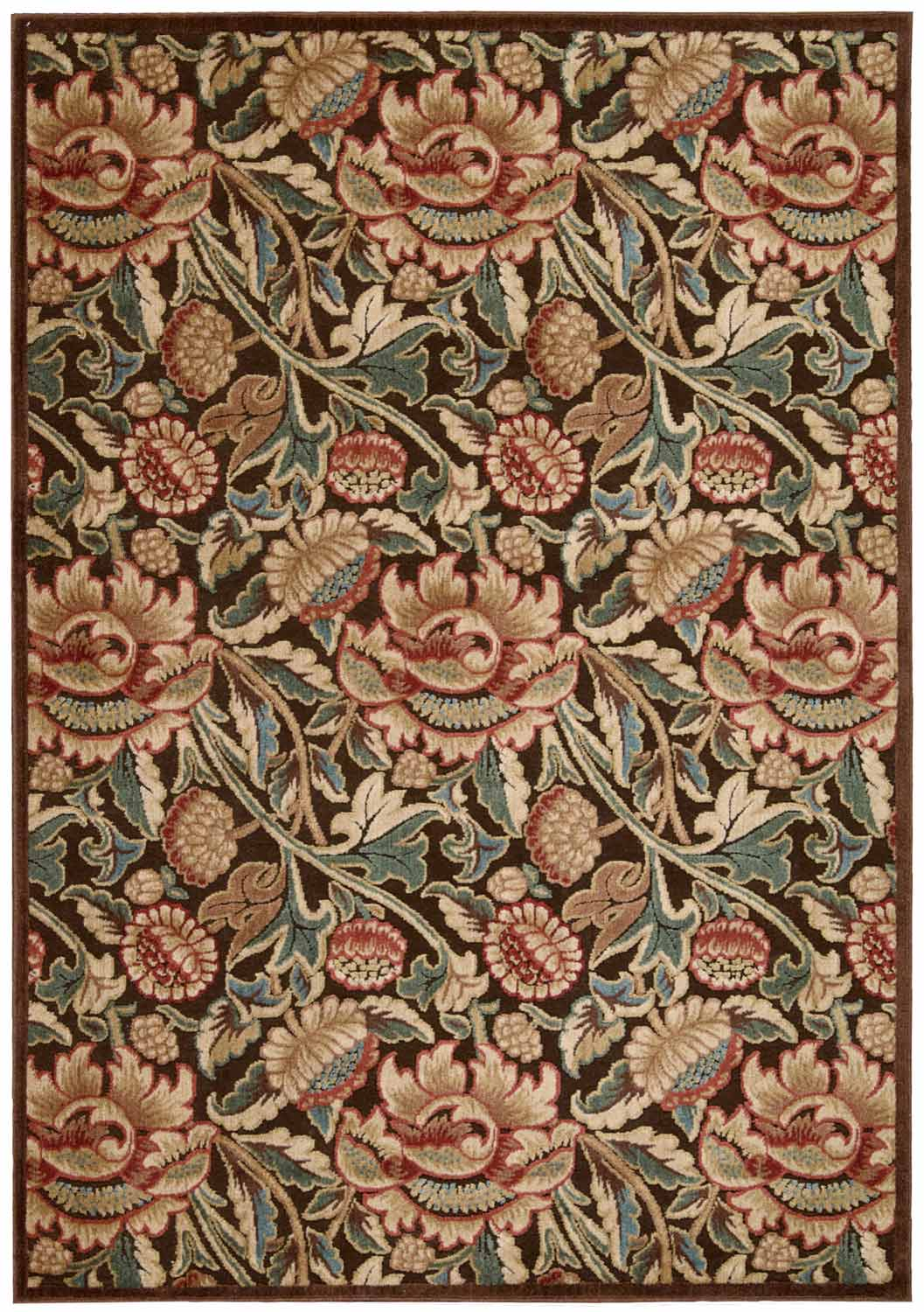 Nourison Graphic Illusions GIL10 Brown Area Rug