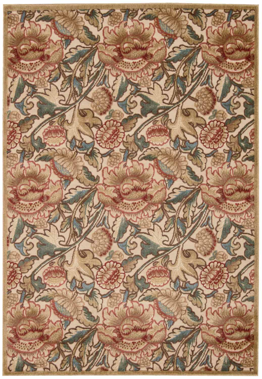 Nourison Graphic Illusions GIL10 Light Gold Area Rug