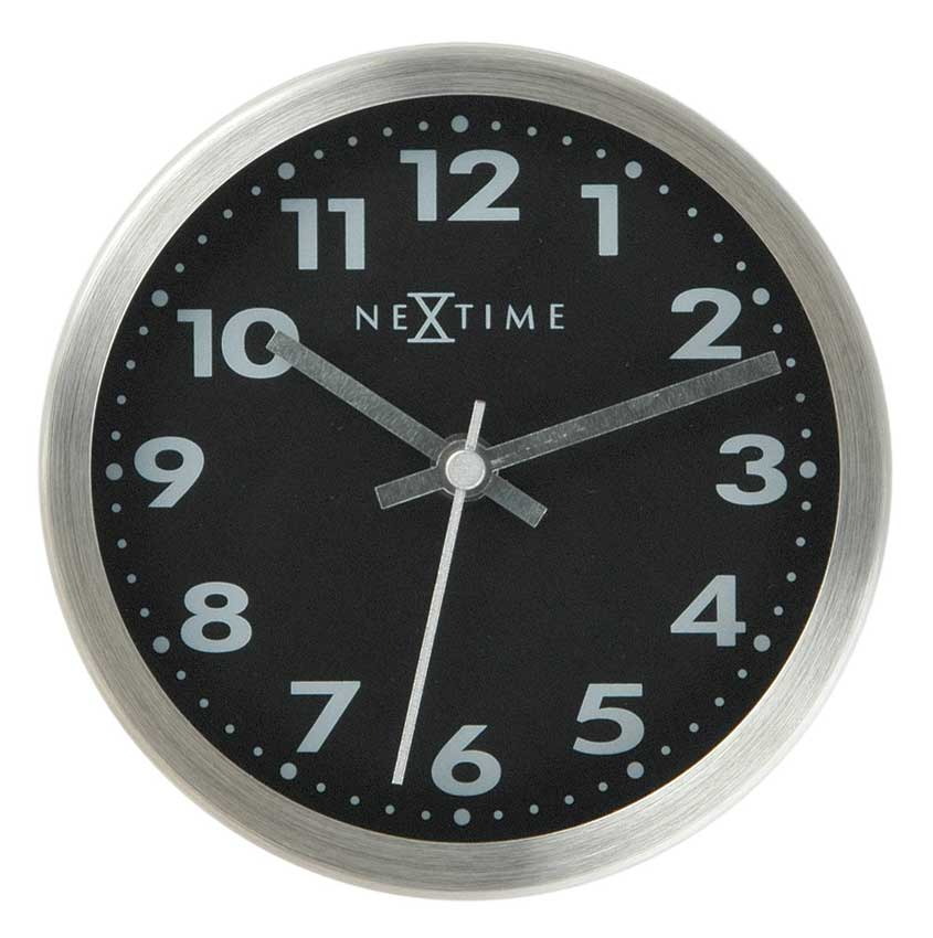 Track of Time Arabic Glass Aluminum Wall Clock - Black-Nextime