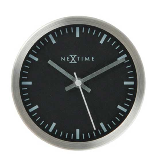Track of Time Stripe Glass Aluminum Wall Clock -  Black-Nextime