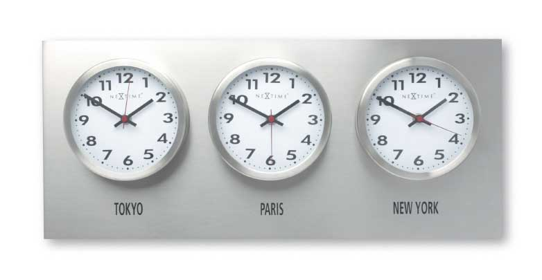 Track of Time New York-Chicago-LA Wall Clock Set-Nextime