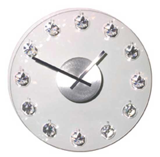 Cheap Nextime Timeless Diamond Glass Wall Clock