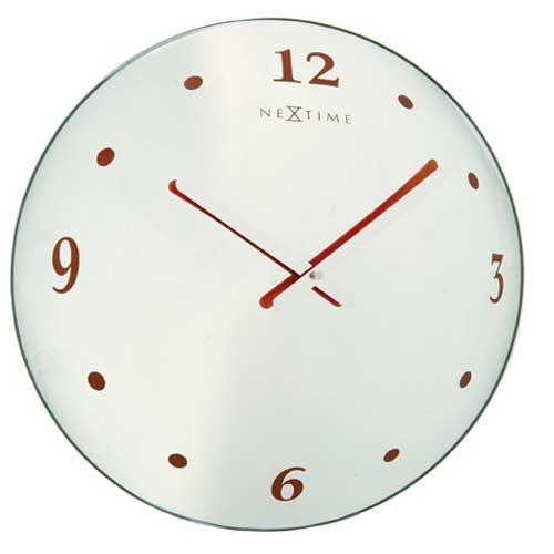 Cheap Nextime Time Piece Round Mirror Wall Clock